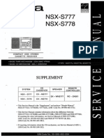 Manual aiwa nsx s777, s778