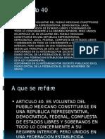 El Articulo 40