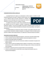 Programa de Linguistica 2015