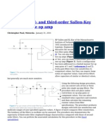 Design Second and Third Order Sallen Key Filters With One Op Amp