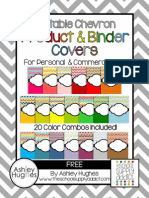 Free Edit Able Chevron Binder Product Covers