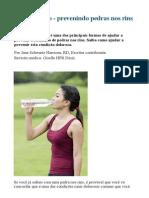 Passo a Passo - Prevenindo Pedras Nos Rins Com Dieta