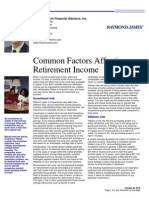 Common Factors Affecting Retirement Income