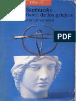 Sambursky, S. - El mundo físico de los griegos [1956] [ed. Alianza, 1990]