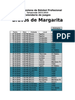 Calendario Bravos 2015