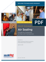 Air Sealing homes Retrofit Techniques