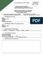 Ficha de Inscricao - PrFicha Inscrição Professores Forúm de Educação.