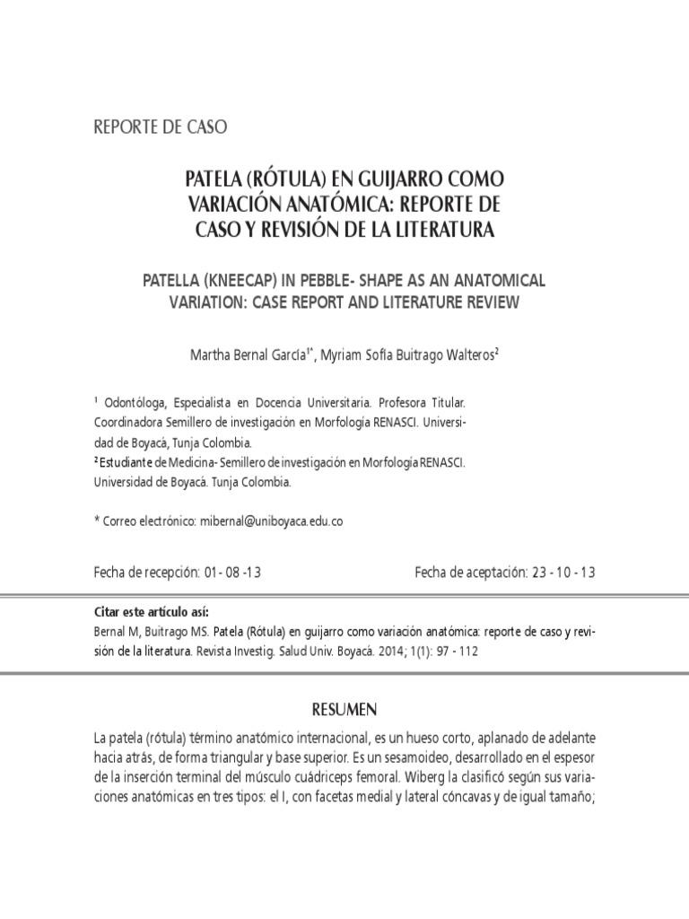 Martha Bernal y Myriam Buitrago - Rotula en Guijarro Por Luxacion