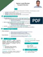 CV Ingénieur Mécanique (Conception & Fabrication) Anouar BOUHAJA