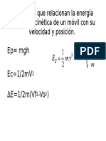 Ecuaciones Que Relacionan La Energía Potencial y Cinética
