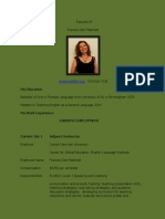 resume dee matchett  for eportfolio  2015