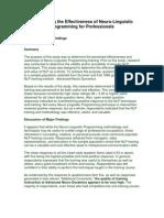 Effectiveness of NLP