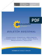 Noveno Boletin Regional Climatologico Setiembre 2015