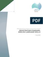 Medical Board Registration Standard English Language Skills 1 July 2015 (1)