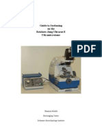 Guide to Sectioning on the Reichert Jung Ultracut Ultramicrotome