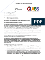 CLASS Community Priorities for Selecting the Next Superintendent of LAUSD 10.1.15