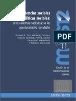 Ciencias y políticas sociales