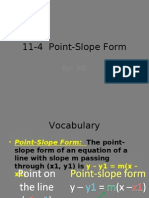 11 4 Point Slope Form
