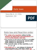 Rate Law Yuan