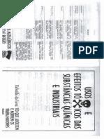 Usos e Efeitos Tóxicos Das Substâncias Químicas e Industriais