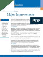 Critical Elements Major Improvements
