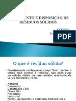 Tratamento e Disposição de Resíduos Sólidos - Undade 1