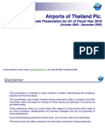 AOT Corporate Presentation for Q1 of Fiscal Year 2010 (October 2009 - December 2009)