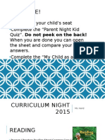 curriculum night 2015