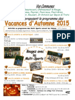 SIHVA Prog Automne 2015