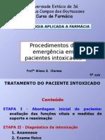 4ª Aula-Procedimentos e emergência em pacientes intoxicados