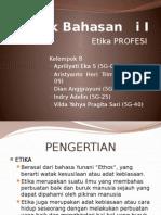 Pokok Bahasan II - Kelompok 8