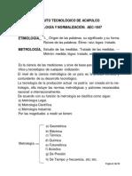 resumen de metrología y normalización