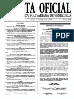 Sumario Gaceta Oficial 39.385