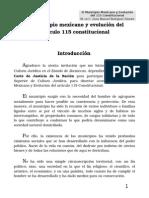 el municipio mexicano y evolución del articulo 115 constitucional
