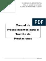 Manual Procedimientos de Prestaciones