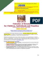 Calendar of Events - October 4, 2015