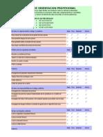 Test de Orientacion Profesional (Completo)