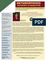 District 29 Newsletter Publication October 2015-2016