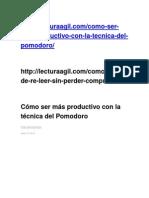 Cómo Ser Más Productivo Con La Técnica Del Pomodoro