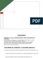 Tema 5 Ley Para Volumenes de Control TERMO 1