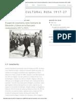 Política Cultural Rusa 1917-27_ El Papel de Lunacharsky Como Comisario de Educación