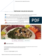 Receta Para Preparar Chiles en Nogada _ México Desconocido