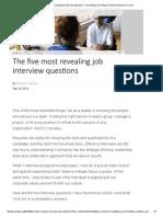 The Five Most Revealing Job Interview Questions - Forum_Blog Forum_Blog _ the World Economic Forum