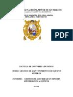Gestion de Seguridad Min. Sub. y Equipos - Victor Inca