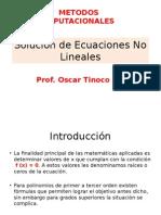 Solucion Ecuaciones No Lineales