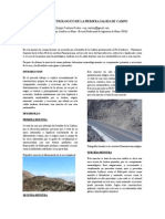 Informe Petrologico de La Primera Salida de Campo