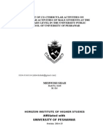 Impact of Co-Curricular Activities on Curricular Activities (Mehwish Sha....doc