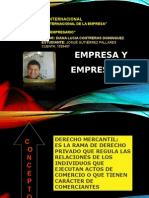 Empresa y Empresario