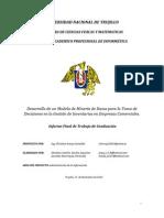 Desarrollo de Un Modelo de Minería de Datos Para La Toma de Decisiones Tesis