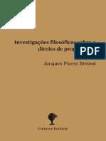Investigações Filosóficas sobre o Direito de Propriedade